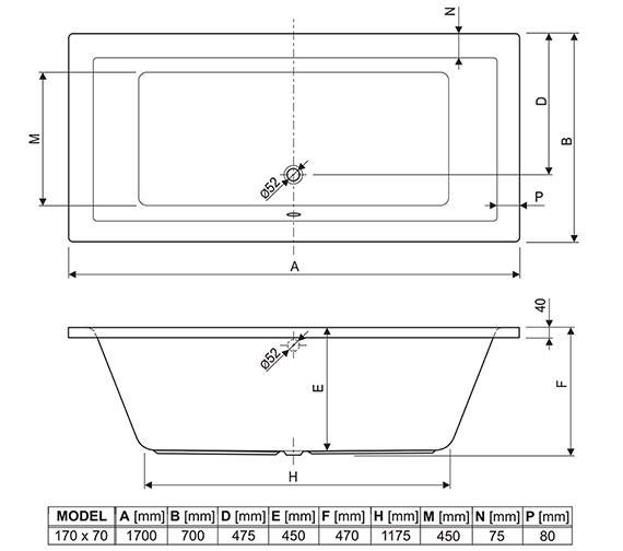 Technical drawing QS-V75016 / 154PLA1775AQMAX
