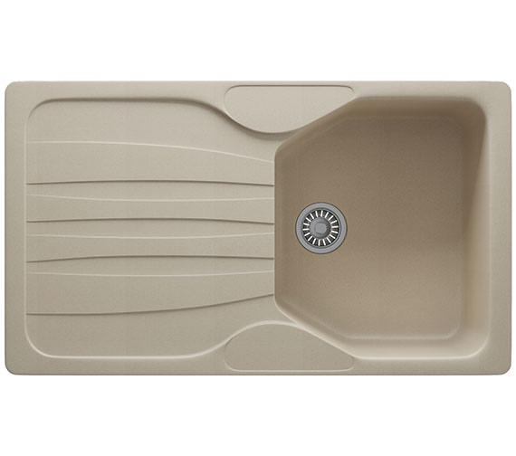 Additional image of Franke Calypso COG 611 Fragranite 1.0 Bowl Polar White Finish Kitchen Inset Sink