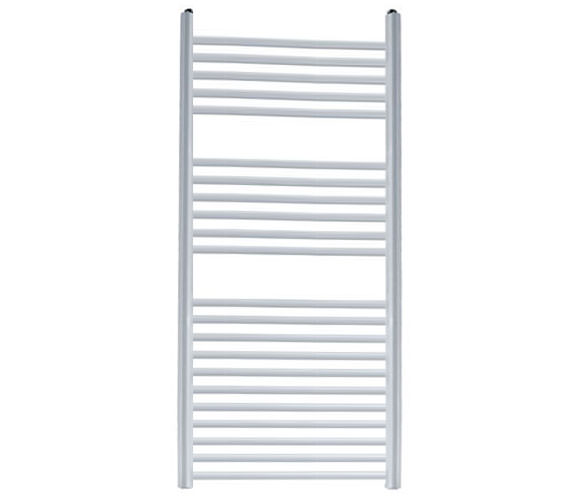 Reina Diva 500 x 800mm White Flat Towel Rail - More Height Sizes Available