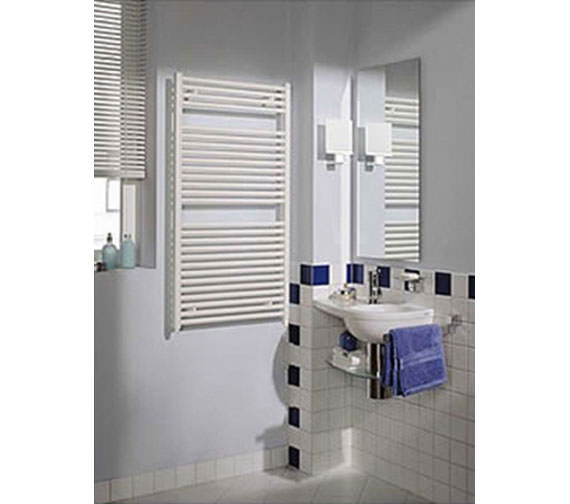 Alternate image of Reina Diva 600 x 800mm White Flat Towel Rail - More Height Sizes Available
