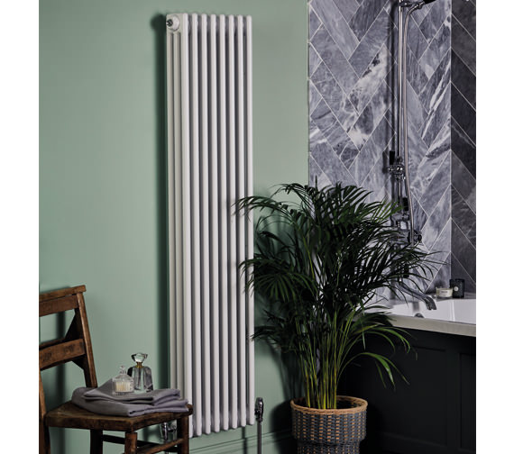Bayswater Nelson 355 x 1800mm White Double Radiator
