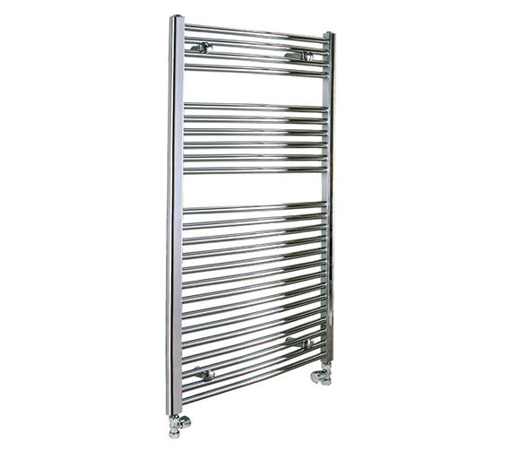 Reina Diva 750 x 800mm Chrome Flat Towel Rail - More Height Sizes Available