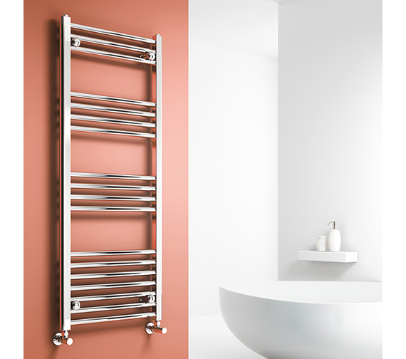 Alternate image of Reina Capo 400mm Wide Chrome Flat Towel Rail