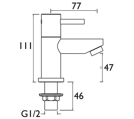Technical drawing QS-V79149 / BTZ 1/2 C
