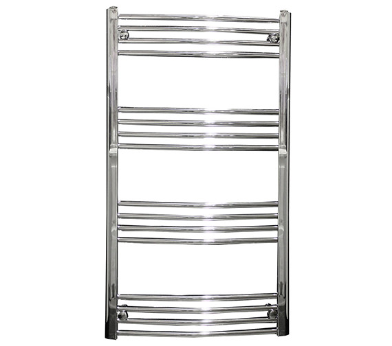 Reina Capo 400mm Wide Curved Towel Rail Chrome