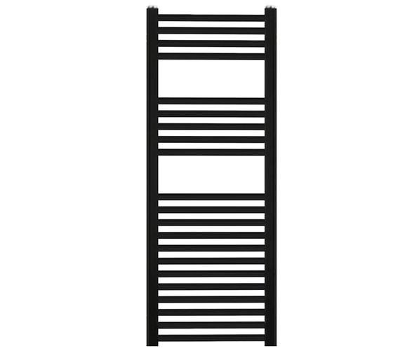 Reina Diva 500 x 800mm Black Flat Towel Rail - More Height Sizes Available