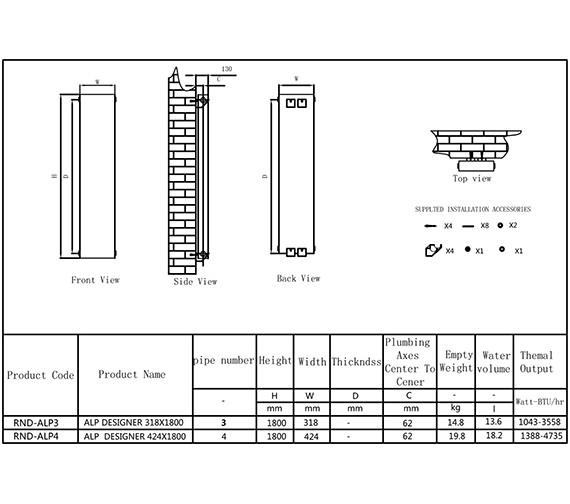 Technical drawing QS-V90603 / RND-ALP3W
