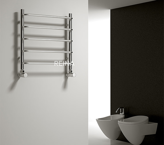 Alternate image of Reina Aliano 500mm Wide Chrome Designer Radiator - 500 And 1000mm Height Available