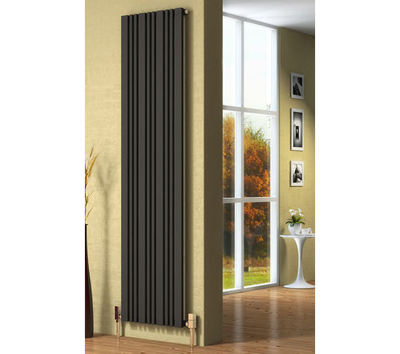 Reina Bonera 324 x 1800mm Anthracite Vertical Steel Designer Radiator - More Width Sizes Available