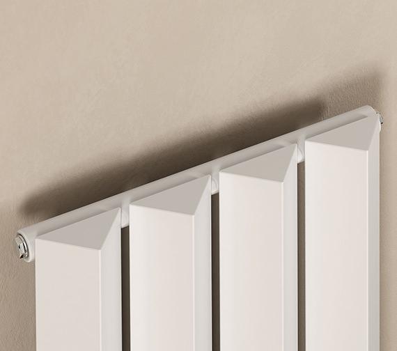 Additional image of Reina Alp 318 x 1800mm White Vertical Steel Designer Radiator