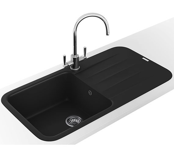 Additional image of Franke Pebel DP PBG 611 970 Fragranite Polar White Inset Sink And Tap