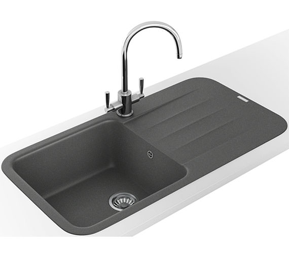Alternate image of Franke Pebel DP PBG 611 970 Fragranite Polar White Inset Sink And Tap