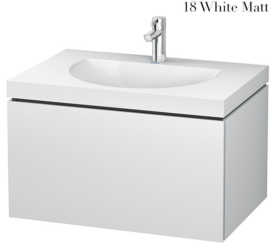 Duravit L-Cube 800mm Single Drawer Vanity Unit With C-Bonded Washbasin
