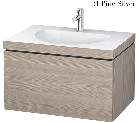 Additional image of Duravit L-Cube 800mm Single Drawer Vanity Unit With C-Bonded Washbasin