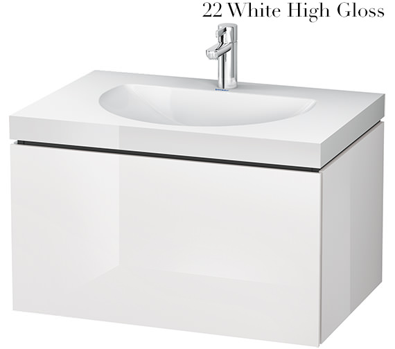 Alternate image of Duravit L-Cube 800mm Single Drawer Vanity Unit With C-Bonded Washbasin