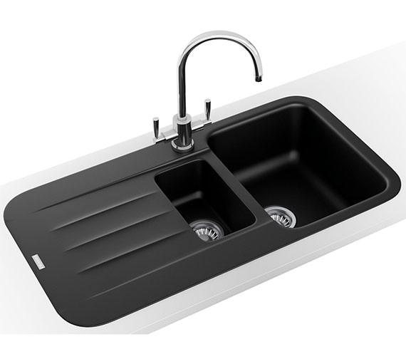 Additional image of Franke Pebel Designer Pack PBG 651 Fragranite Inset Sink And Tap