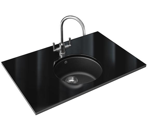 Additional image of Franke Rotondo Designer Pack RUG 110 Fragranite Sink And Tap