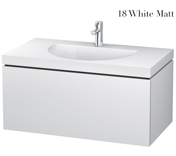 Duravit L-Cube 1000mm Single Drawer Vanity Unit With C-Bonded Washbasin