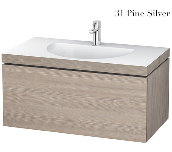 Additional image of Duravit L-Cube 1000mm Single Drawer Vanity Unit With C-Bonded Washbasin