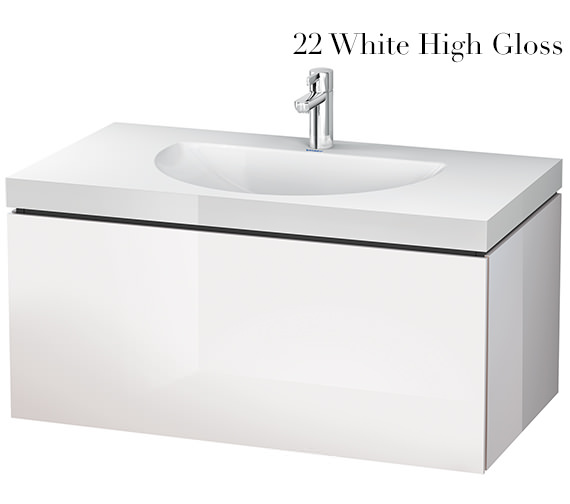 Alternate image of Duravit L-Cube 1000mm Single Drawer Vanity Unit With C-Bonded Washbasin