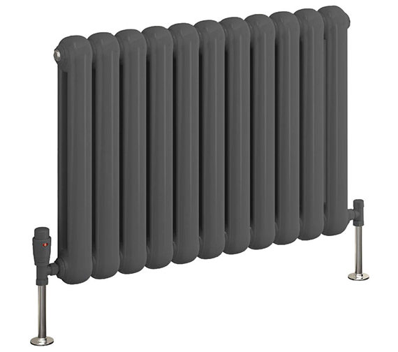 Additional image of Reina Coneva 550mm High Horizontal Steel Designer Radiator White Or Anthracite
