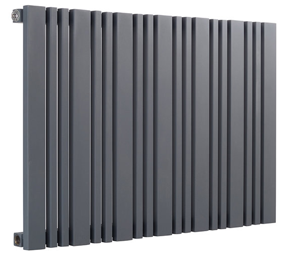 Reina Bonera 550mm High Horizontal Steel Designer Radiator White Or Anthracite
