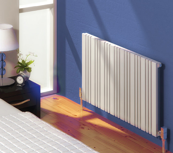 Alternate image of Reina Bonera 550mm High Horizontal Steel Designer Radiator White Or Anthracite