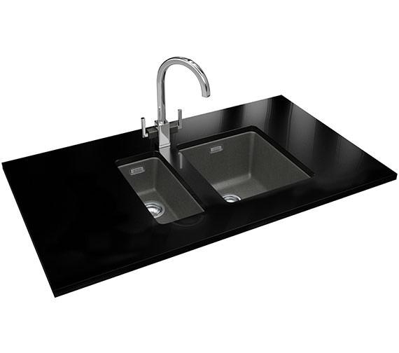 Alternate image of Franke Kubus DP KBG 110 16 + KBG 110 34 Polar White Fragranite Sink And Tap