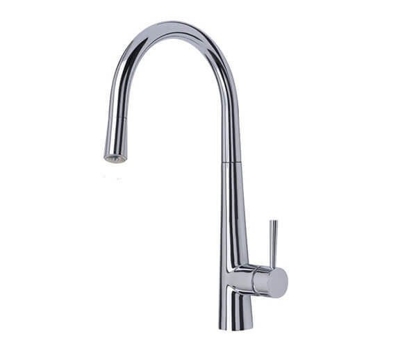 Mayfair Palazzo Glo LED Kitchen Sink Mixer Tap Chrome With Pull Out Nozzle