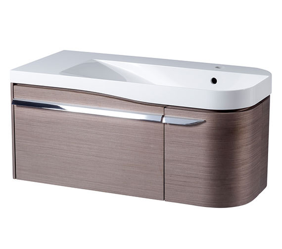 Roper Rhodes Cirrus 900mm Fine Line Grey Unit With Basin Right Hand