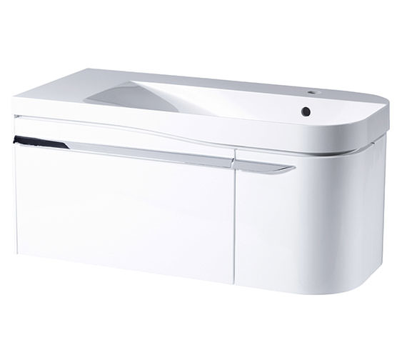 Additional image of Roper Rhodes Cirrus 900mm Fine Line Grey Unit With Basin Right Hand