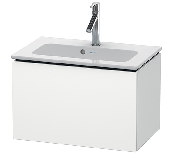 Duravit L-Cube Wall Mounted 1 Drawer Compact Vanity Unit For Me By Starck Basin