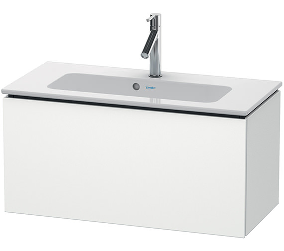 Duravit L-Cube 820mm White Matt Compact Vanity Unit With Me By Starck Basin