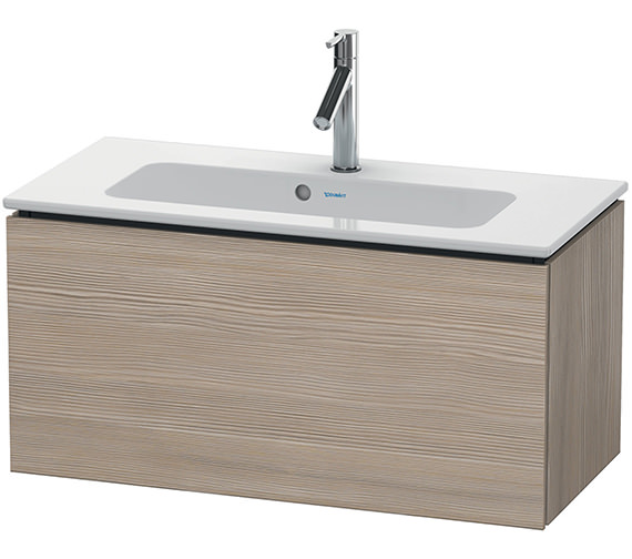 Additional image of Duravit L-Cube 820mm White Matt Compact Vanity Unit With Me By Starck Basin