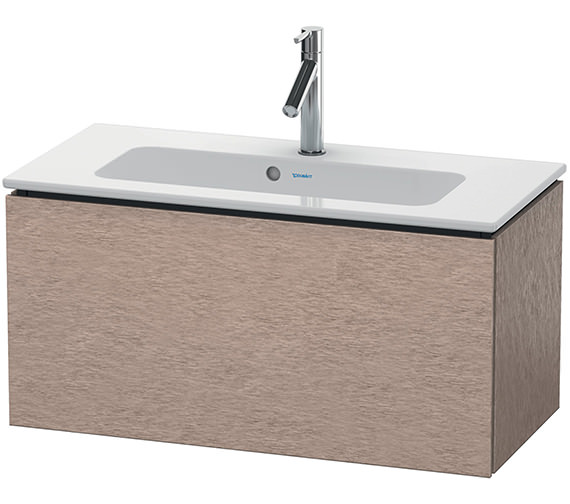 Alternate image of Duravit L-Cube 820mm White Matt Compact Vanity Unit With Me By Starck Basin