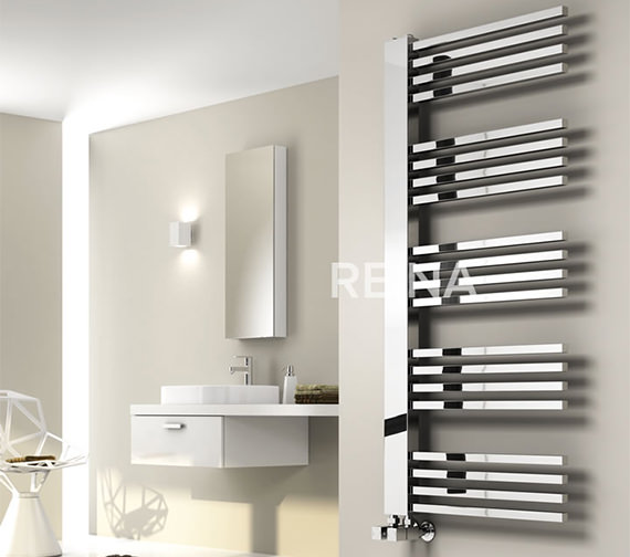 Reina Dexi Chrome 530 x 660mm Wide Steel Designer Radiator