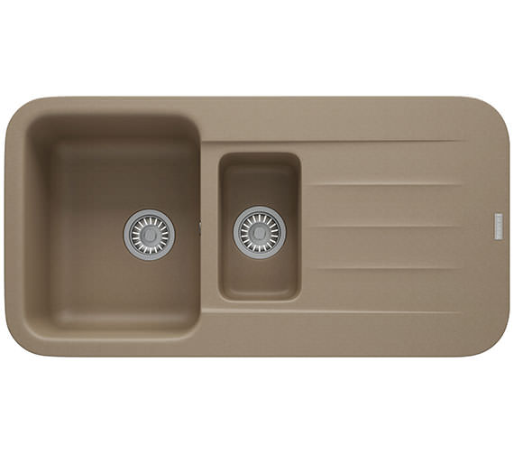 Additional image of Franke Pebel PBG 651 Fragranite 1.5 Bowl Onyx Finish Kitchen Inset Sink