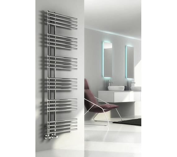 Reina Elisa 500mm Wide Chrome Steel Designer Radiator