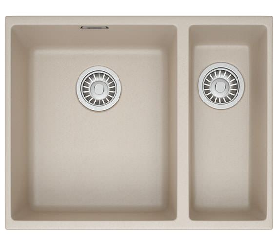 Additional image of Franke Sirius SID 160 Tectonite 1.5 Bowl Polar White Finish Kitchen Undermount Sink