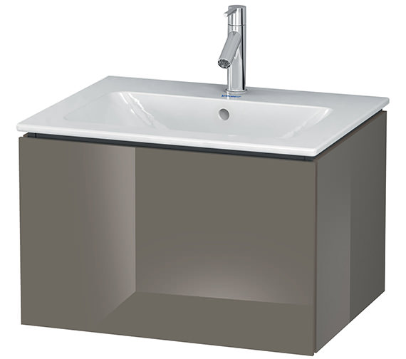 Alternate image of Duravit L-Cube 620mm White Matt Wall Mounted Vanity Unit With Me By Starck Basin