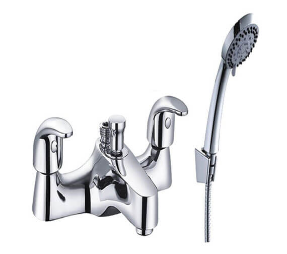 Mayfair Cosmic Deck Mounted Bath Shower Mixer Tap With Kit