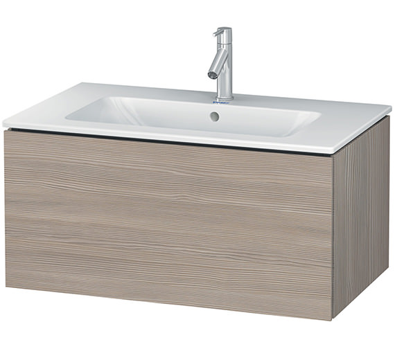 Additional image of Duravit L-Cube 820mm Wall Mounted Vanity Unit With Me By Starck Basin