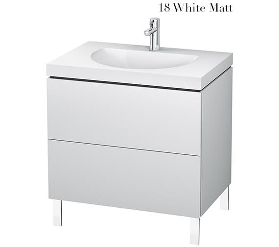 Duravit L-Cube 800mm Floor Standing Vanity Unit With C-Bonded Washbasin