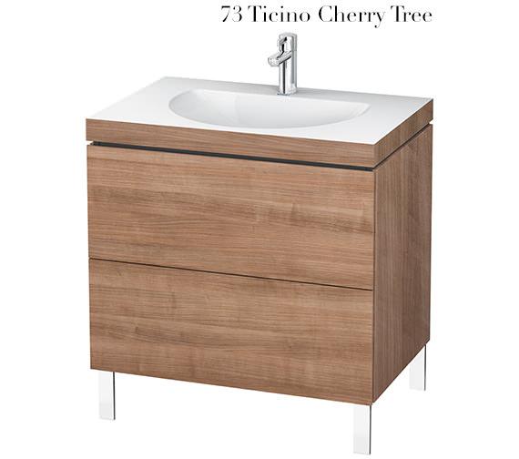 Alternate image of Duravit L-Cube 800mm Floor Standing Vanity Unit With C-Bonded Washbasin