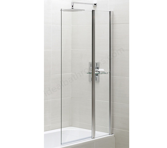 Essential Spring 900 x 1500mm Square Bath Screen With Fixed Panel