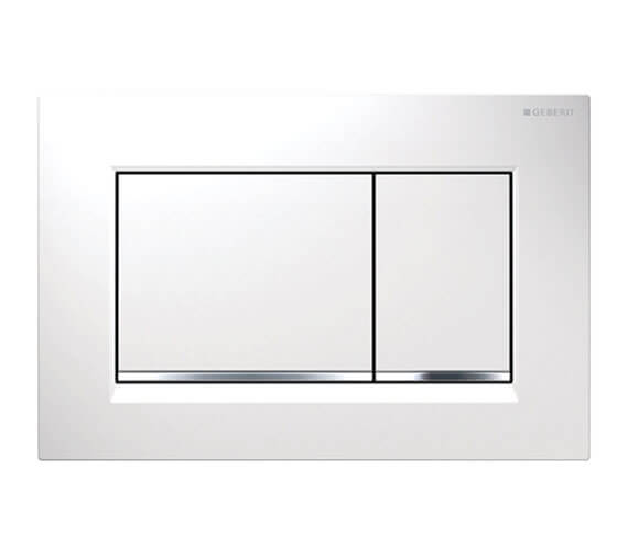 Geberit Sigma30 246 x 164mm Dual Flush Plate White Gloss Chrome