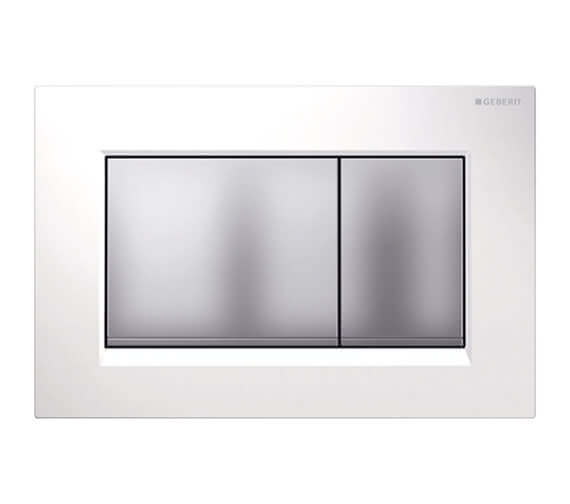 Additional image of Geberit Sigma30 246 x 164mm Dual Flush Plate White Gloss Chrome