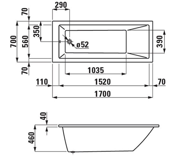 Technical drawing QS-V25584 / 230950WH