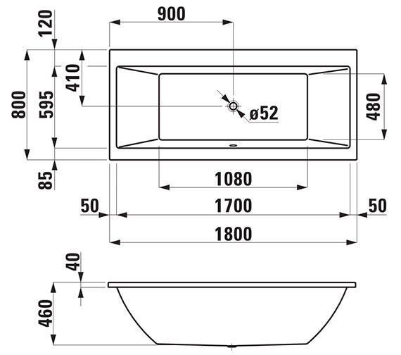 Technical drawing QS-V25588 / 232950WH