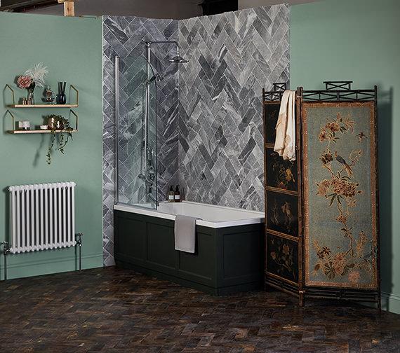 Bayswater 790 x 1435mm Curved Bath Screen